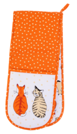 Ulster Weavers Double Oven Glove Cats in Waiting -new 2017-