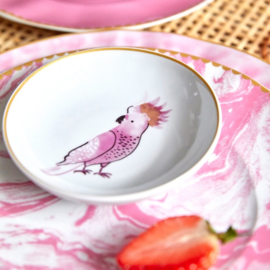 Rice Porcelain Dipping Bowl - Cockatoo Print - Special Edition