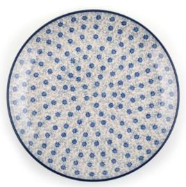 Bunzlau Plate 25,5 cm Flower Fountain