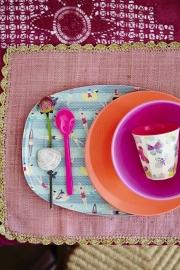 Rice Rectangular Melamine Plate with Swimster Print