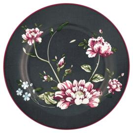 GreenGate Plate Penelope dark grey -stoneware-