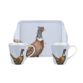 Wrendale Designs Pheasant Mug & Tray set