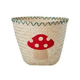 Rice Basket with Tree Mushroom - natural- medium