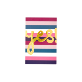 Rice Post Card Stripe Print 'Yes'