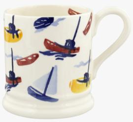 Emma Bridgewater Shoreline Scattered Boats 1/2 Pint Mug