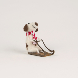 Sass & Belle Sledging Doggie Felt Decoration