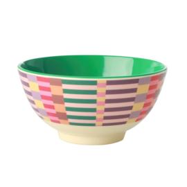 Rice Medium Melamine Bowl - Summer Stripes Print *vernieuwd model*