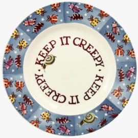 Emma Bridgewater Keep it Creepy 8 1/2 Inch Plate -blok sponge ware-