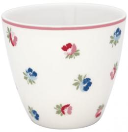 GreenGate Latte Cup Viola white -stoneware-