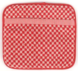 Bunzlau Kitchen Pot Holder Small Check Red