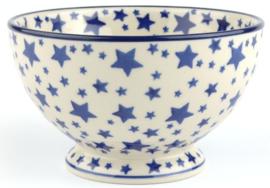 Bunzlau Bowl on Foot 630 ml White Stars