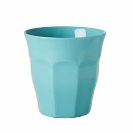 Rice Solid Colored Medium Melamine Cup in Aqua