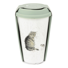 Wrendale Designs Travel Mug Cat & Mouse