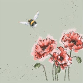 Wrendale Designs Lunch Napkins 'Flight of the Bumblebee'