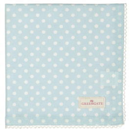 GreenGate Napkin with lace Spot pale blue
