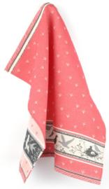Bunzlau Tea Towel Birds Red