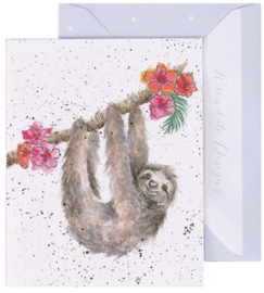 Wrendale Designs 'Hanging Around' miniature Card
