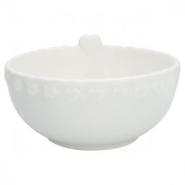 GreenGate Bowl Penny white medium -stoneware-