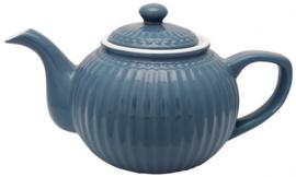 GreenGate Teapot Alice ocean blue -stoneware-