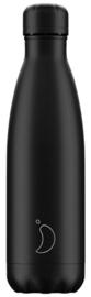 Chilly's Drink Bottle 500 ml All Black -zwarte dop-