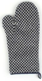 Bunzlau Oven Glove Small Check Dark Blue