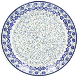 Bunzlau Plate Ø 20 cm Blue Fountain