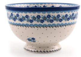Bunzlau Bowl on Foot Large 25,5 cm Fresh