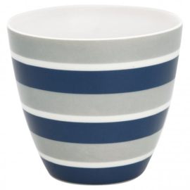GreenGate Latte Cup Alyssa blue -stoneware-