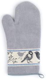Bunzlau Oven Glove Birds Grey