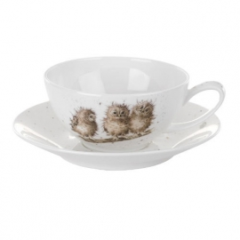Wrendale Designs Large Cup & Saucer Owls