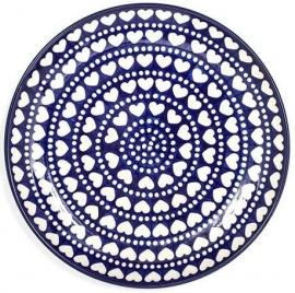 Bunzlau Plate 20 cm Blue Valentine