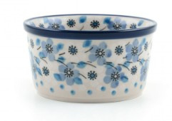 Bunzlau Ramekin Bowl 9 cm Blue White Love