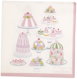 GreenGate Paper Napkin Tenna white Small 20 pcs