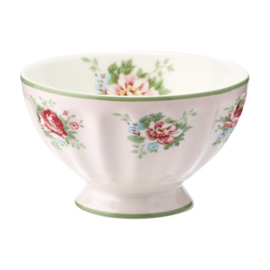 GreenGate French Bowl Medium Aurelia pale pink -stoneware-