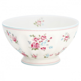 GreenGate French Bowl Extra Large Sonia white -stoneware-
