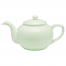 GreenGate Teapot Alice pale green -stoneware-