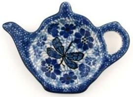 Bunzlau Teabag Dish Teapot 10 cm Dragonfly