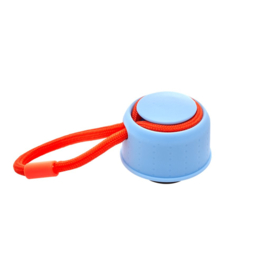 Rice Lid for Isolating Drinking Bottle - Ice Blue with Neon Orange Thread