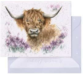 Wrendale Designs 'Highland Heathers' miniature Card