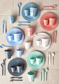 Rice Melamine Cake Forks - Assorted 'Happy 21st' Colors - Bundle of 6