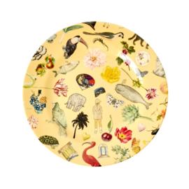 Rice Melamine Side Plate with Creme Art Print -bord met rand-
