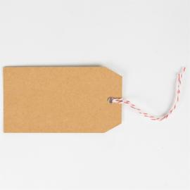 Sass & Belle Gift Tags Brown Santas Workshop -Set of 15-