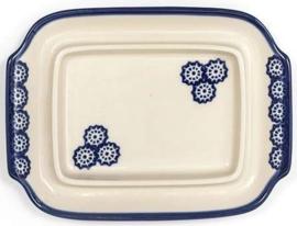 Bunzlau Butter Dish with Plate Lace