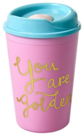 Rice Plastic Thermo Cup -You are Golden-