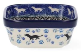 Bunzlau Square Bowl 170 ml 10 x 10 cm Dog