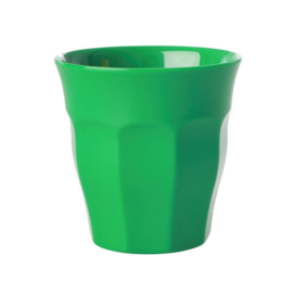 Rice Solid Colored Medium Melamine Cup in Forest Green