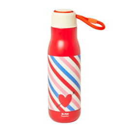 Rice Isolating Drinking Bottle with Candy Stripes print - RVS