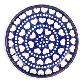 Bunzlau Cakedish 16 cm Blue Valentine