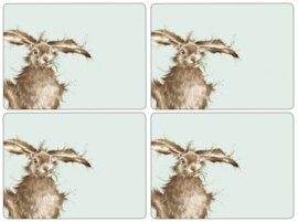 Wrendale Designs Set of 4 Large Hare Placemats