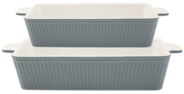 GreenGate Oven Dishes Stone grey -set  of 2-